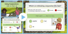 Using Coordinating Conjunctions and or but so SPaG Grammar PowerPoint Quiz