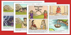 Romulus and Remus Story Cards Romanian