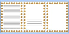 Summer Marigold Portrait Page Borders
