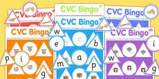 CVC Bingo Game with British Sign Language