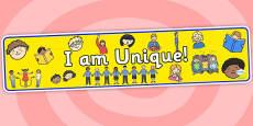 I Am Unique Display Banner 2