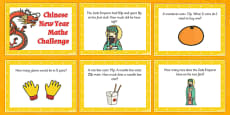 Year 1 Chinese New Year Maths Word Problem Challenge Cards