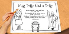 Miss Polly Had a Dolly Colouring In Sheet