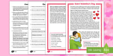* NEW * Saint Valentine's Day Differentiated Reading Comprehension Activity