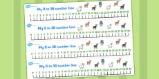 The Three Billy Goats Gruff Number Lines 0-30