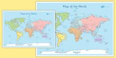 KS1 World Map Poster