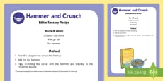 Hammer and Crunch Edible Sensory Recipe