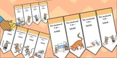 The Town Mouse and the Country Mouse Editable Bookmarks