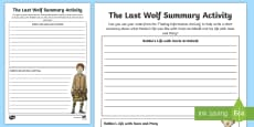 * NEW * Summary Activity to Support Teaching on The Last Wolf