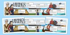 Viking Display Timeline