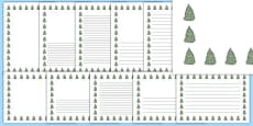Spruce Tree Themed Page Borders
