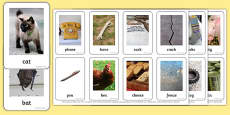 Photo Rhyming Matching Game