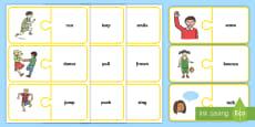 EAL Verbs Matching Jigsaw