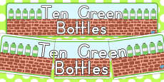 Australia - Ten Green Bottles Display Banner