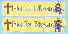 He is Risen Easter Display Banner