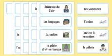 Holiday Travel Topic Words French