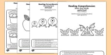 Reading comprehension seven key words activity sheets Arabic Translation