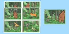 the Gruffalo Story Sequencing Cards 4 Per A4