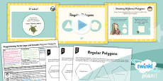 PlanIt - Computing Year 3 - Programming Turtle Logo and Scratch Lesson 3: Regular Polygons Lesson Pack