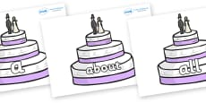 100 High Frequency Words on Wedding Cakes