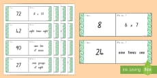 6, 7, 8 and 9 Times Tables Loop Cards