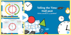 * NEW * Telling the Time Half Past PowerPoint English/Romanian