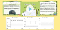 * NEW * Report Text, Read, Record and Present Information Lesson Pack
