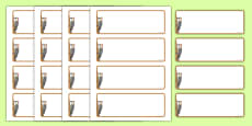 Woodpecker Themed Drawer-Peg-Name Labels (Blank)
