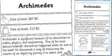 Archimedes Significant Individual Fact Sheet