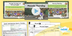PlanIt - RE Year 1 - Easter and Surprises Lesson 2: Maundy Thursday Lesson Pack