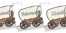 Months of the Year on Wagons