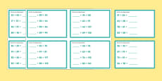 Add Two Two-Digit Numbers Mixed KS1 Maths Challenge Cards