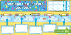 Litere și numere 2017 2018 Cronologia clasei