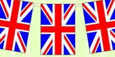 United Kingdom Flag Display Bunting