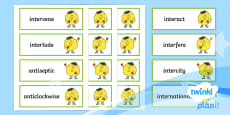 PlanIt Spelling Additional Resources Year 4 Term 3A Word Cards