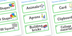 Emerald Themed Editable Classroom Resource Labels
