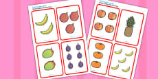 African Surprise Fruit Number Cards