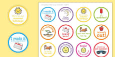 Student End of Term Humorous Stickers