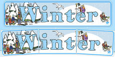 Winter Display Banner