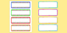 Colouring Pencil Drawer and Peg Labels