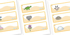Welcome to our class - shell Themed Editable Drawer-Peg-Name Labels