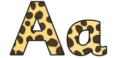 Cheetah Pattern Display Lettering