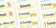 Alice The Camel Word Cards