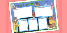 Peace at Last Book Review Writing Frame