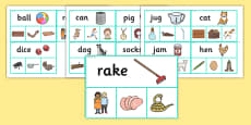 Rhyme Peg Matching Activity