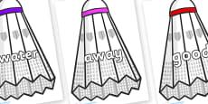Next 200 Common Words on Shuttlecocks