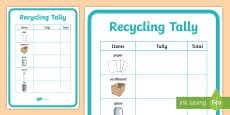 * NEW * Recycling Tally A4 Display Poster
