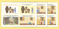 Goldilocks and the Three Bears Story Cards