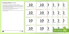 * NEW * Vocabulary Revision 10 Items Challenge Cards Spanish