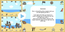 Pirate Themed Editabe PowerPoint Background Template